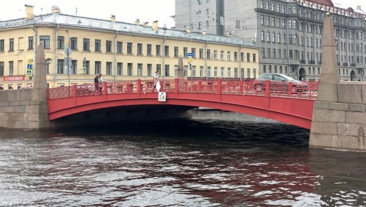 Punainen silta, Pietari, St Petersburg, Russia, Venäjä