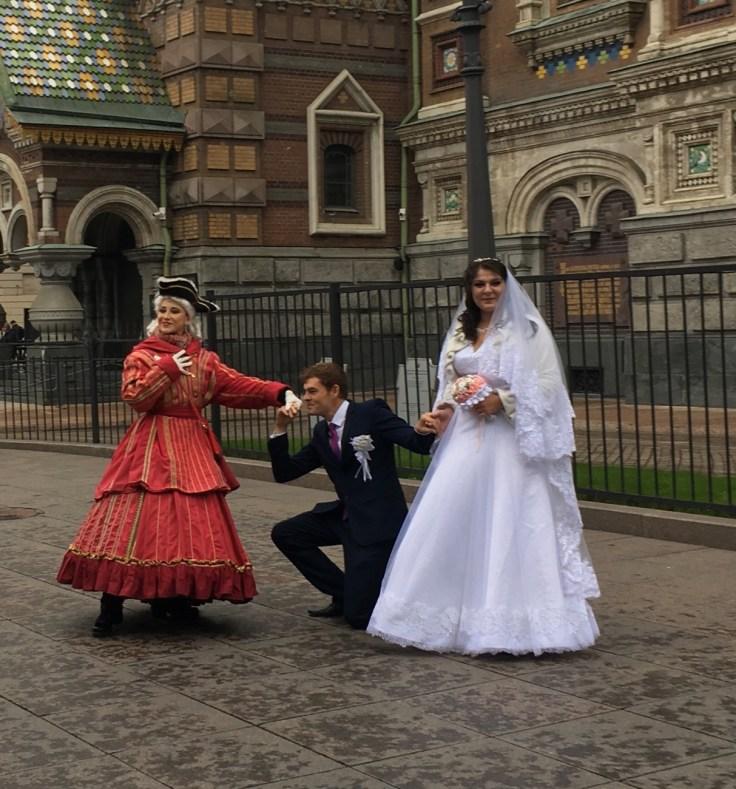 Verikirkko, hääpari, Pietari, St Petersburg, Russia, Venäjä