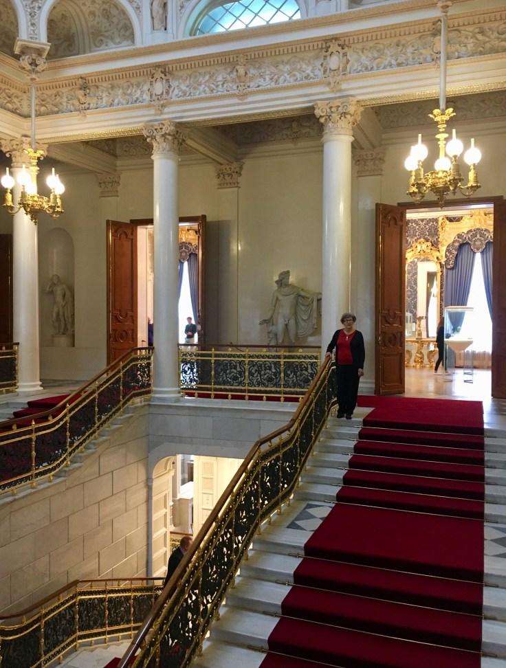 Fabergémuseo, Pietari, juhlaportaikko, Venäjä, Russia, St Petersburg