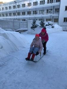 Narva-Joensuu, Narva, talviaktiviteetti, potkuri, lasten kanssa, Viro, itä-Viro