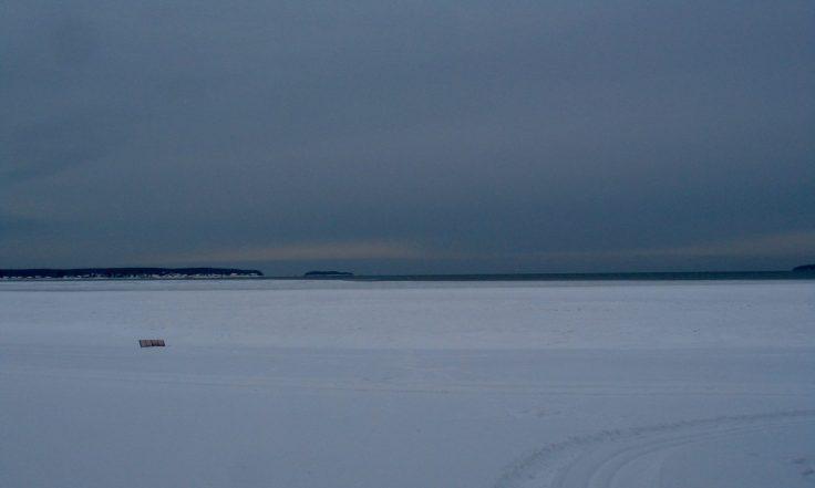 Viro, Lahemaa, talvi, Vōsu, merenranta