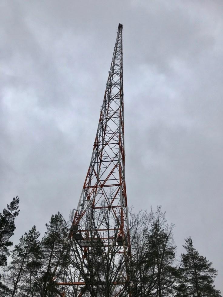 Radio- ja TV-museo Mastola, Lahti, radiomasto