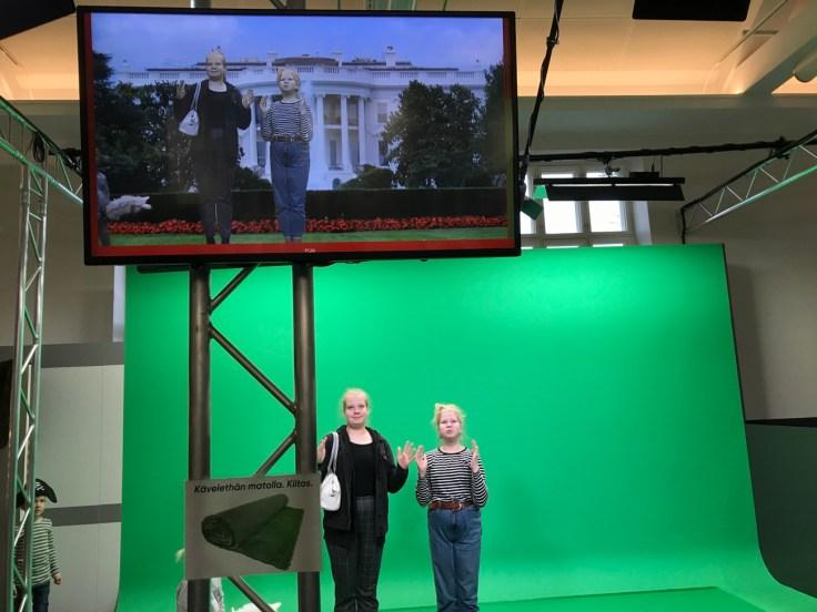 White House, Valkoinen talo, Mastola, vihreä kangas