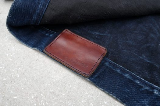Thick Tanner Goods dark brown leather patch