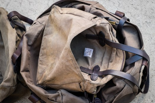 Filson Otter Green Patina on the Zippered Tote