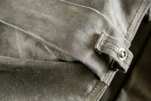 Keep a close eye and be sure to rewax highly creased areas like this one.