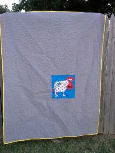 July quilt back