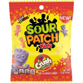 Sour Patch Kids Crush Peg Bag 141g from auntie Ammies American candy shop