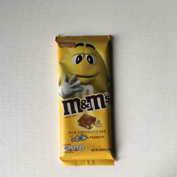 M&M Milk Chocolate Bar with minis & Peanuts (110.6g) From auntie ammies american Candy shop
