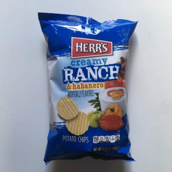 Herrs Ranch & Habanero Potato Chips 184g From Auntie Ammies American Candy Shop