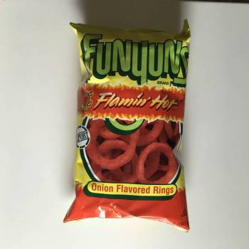 Funyuns Flamin hot (163g) From Auntie Ammie Candy Shop