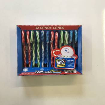 Jolly Rancher candy Canes (149g) From Auntie Ammies Candy Shop.