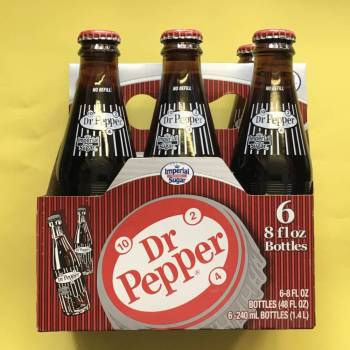 Dr. Pepper made with cane Sugar 240ml x 6 From Auntie Ammies Candy Store