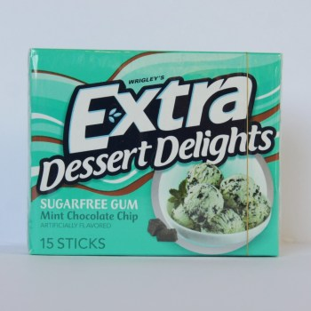 Wrigley's Extra dessert delights Mint Chocolate Chip American foods from Auntie Ammie's Candy Shop UK