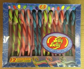 Jelly Belly Candy Canes x 12 American sweets