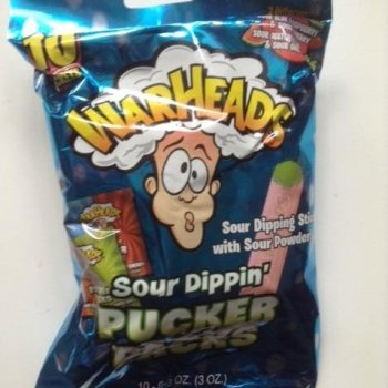 Warheads sour dippin puckar pack American candy