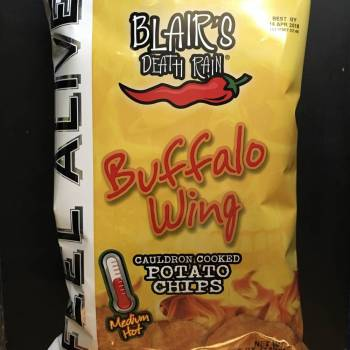 Blair's Death Rain Buffalo Wing Potato chips (142g) From Auntie Ammies Candy Shop