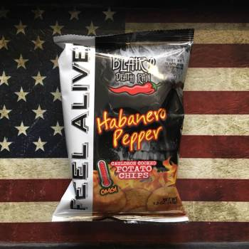 Blair's Death Rain Habanero Pepper Potato chips (43g) From Auntie ammies Candy Shop