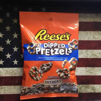 Reeses Dipped Pretzels (120g) from auntie ammies candy shop