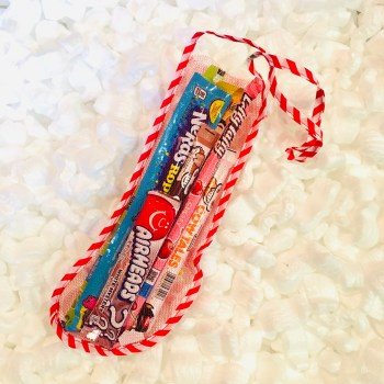 Chewy Stick Candy Selection Christmas Stocking from auntie ammies candy shop