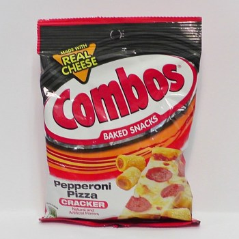 Combos Pepperoni Pizza traditional American food from Auntie Ammie's American Candy Shop UK