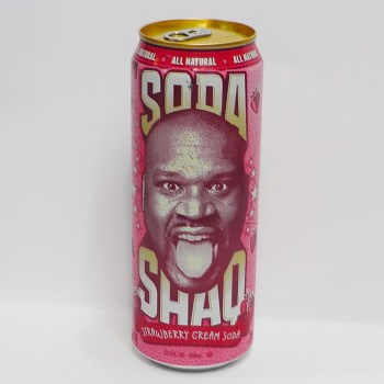 Soda Shaq Strawberry Cream American Soda from Auntie Ammie's American Candy Shop UK