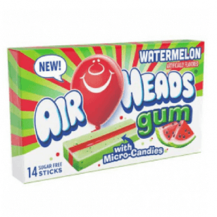 AirHeads Gum Watermelon with Micro candies.