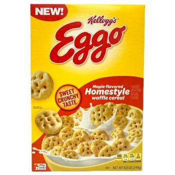 Kellogg's Eggo, Breakfast Cereal, Maple Flavored Homestyle Waffle. 250g from Auntie Ammies American Candy Shop