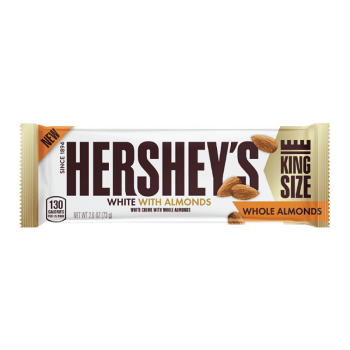 Hershey's White Crème w/ Whole Almonds King Size Bar (73g) from Auntie Ammies American Candy Shop