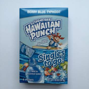 Hawaiian Punch Berry Blue Typhoont singles to go American snacks