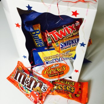 Peanut Butter Nutter Gift Box from Auntie Ammie's American Candy store UK