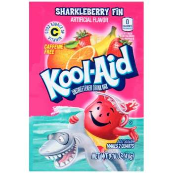 Kool Aid Sharkleberry Fin Sachet 0.16oz (4.6g) from Auntie Ammies American Candy Shop