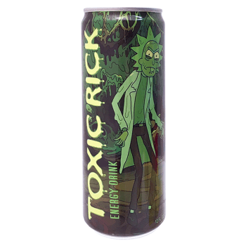 Boston America - Rick & Morty Toxic Rick Energy Drink 12oz (355ml) Can.