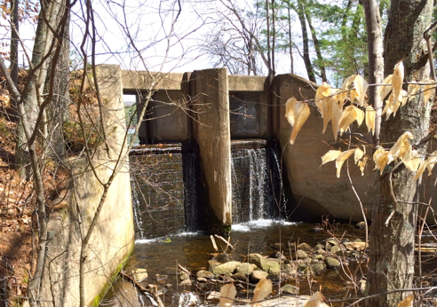 dam on browning mill pond