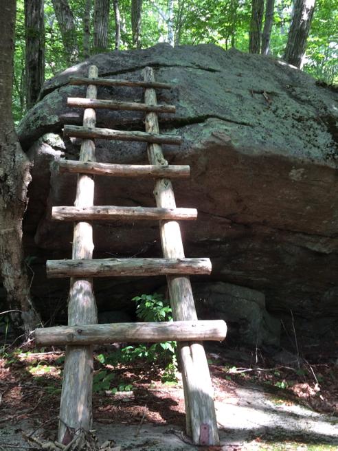 boulder ladder