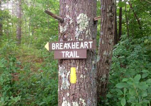 breakheart trail sign