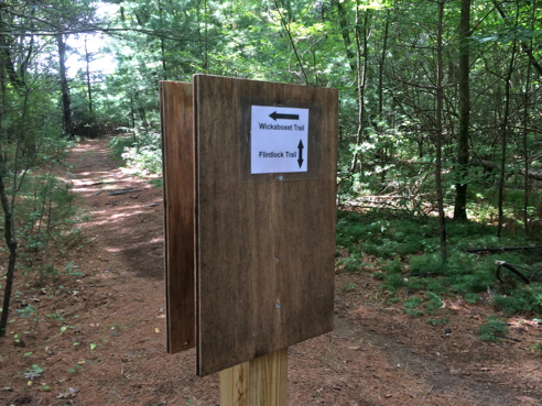 the trail, with signage