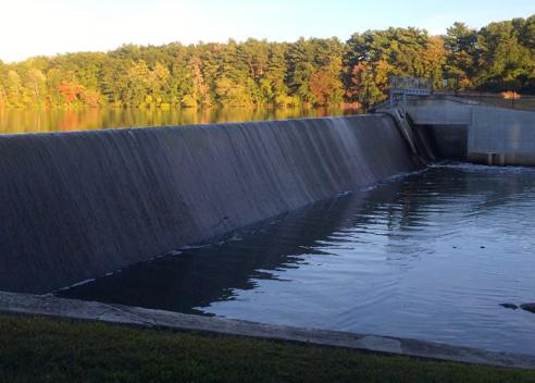 dam at the reservoir