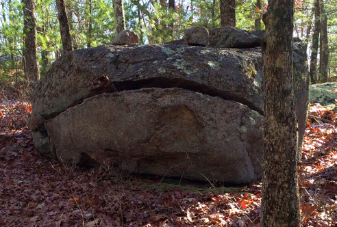 "the famous ""smoking frog"" rock"