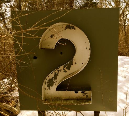 runway sign; foster cove loop