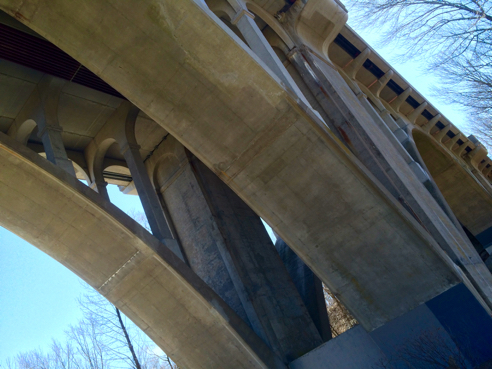 under the bridge on route 116 in lincoln