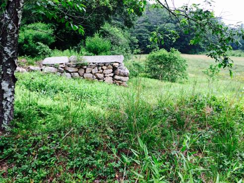 old barn foundation