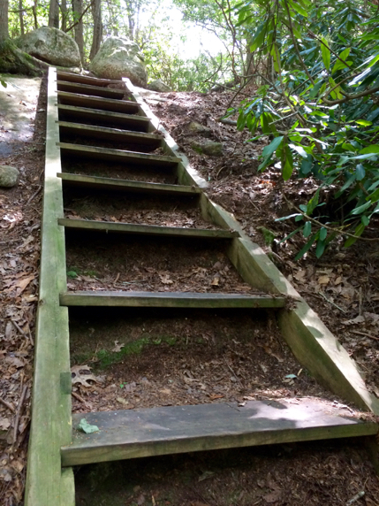 staircase along the trail