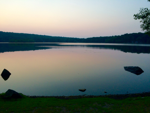 wyassup lake at sunrise