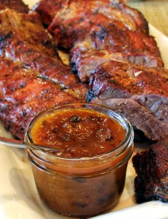 pork ribs with chipotle apricot grilling sauce