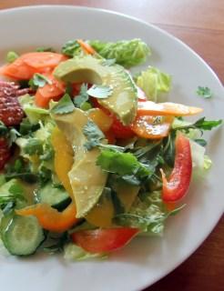 Fresh Veggie Salad with Sesame Ginger Dressing