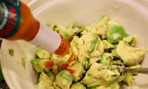hot sauce in guacamole