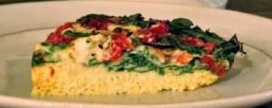 crustless spinach and tomato quiche