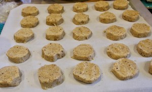 hazelnut cardamom cookies ready to bake