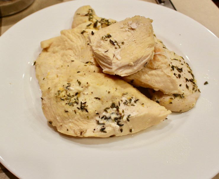 instant pot cooked chicken breasts